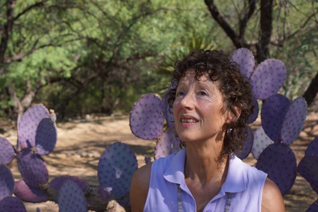 Image : Nancy with purple cactus