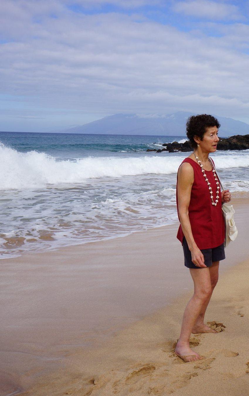 Image : Nancy on the beach