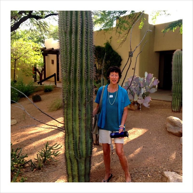 Image : Nancy at Miraval with Cactus