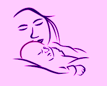 mother aned baby drawing