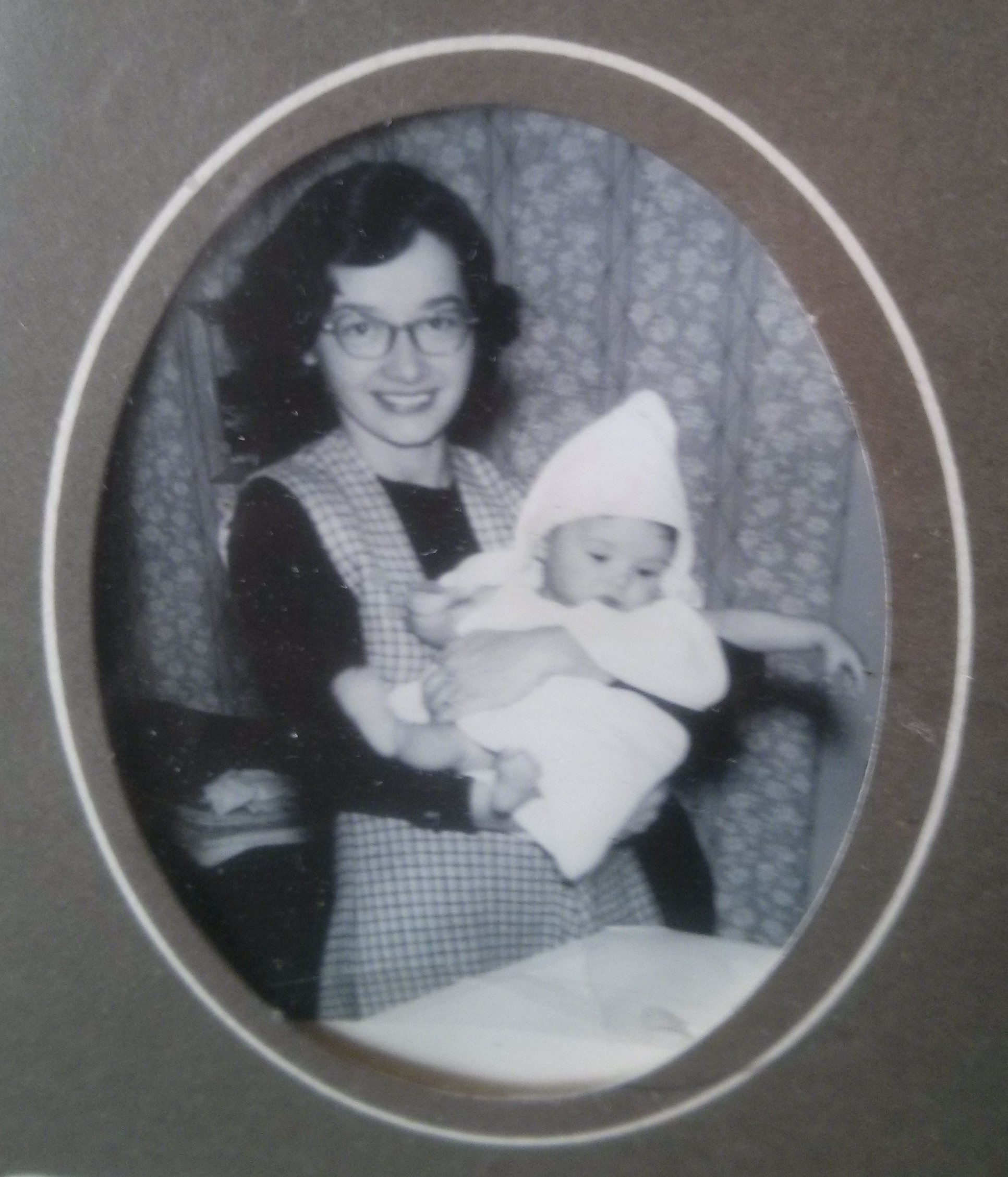 infant Nancy with Mom in glasses