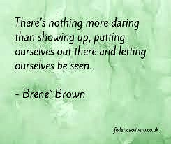 Brene Brown being seen quote