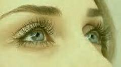 clear blue eyes