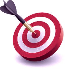 arrow in the bullseye of a target