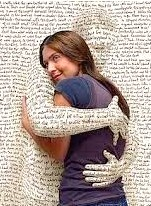 being embraced by words
