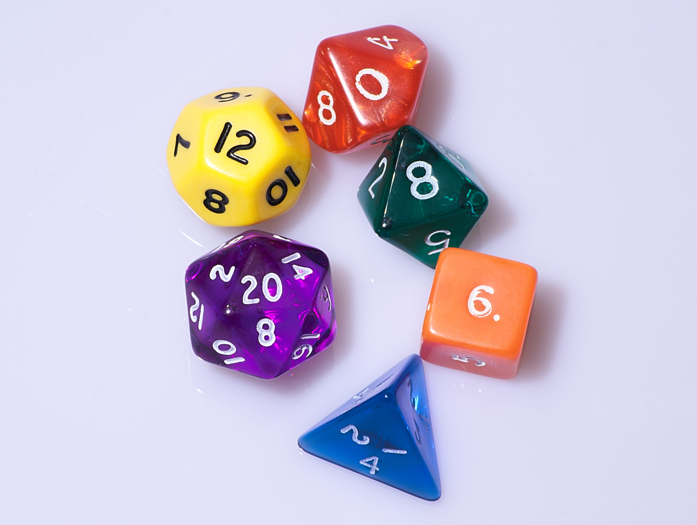 colored dice