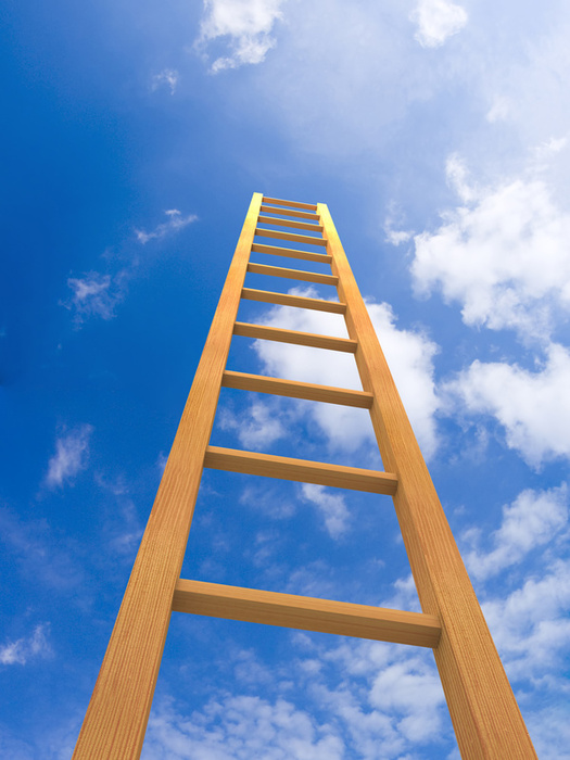 ladder reaching up to the clouds