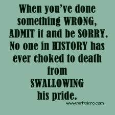 quote about swallowing pride