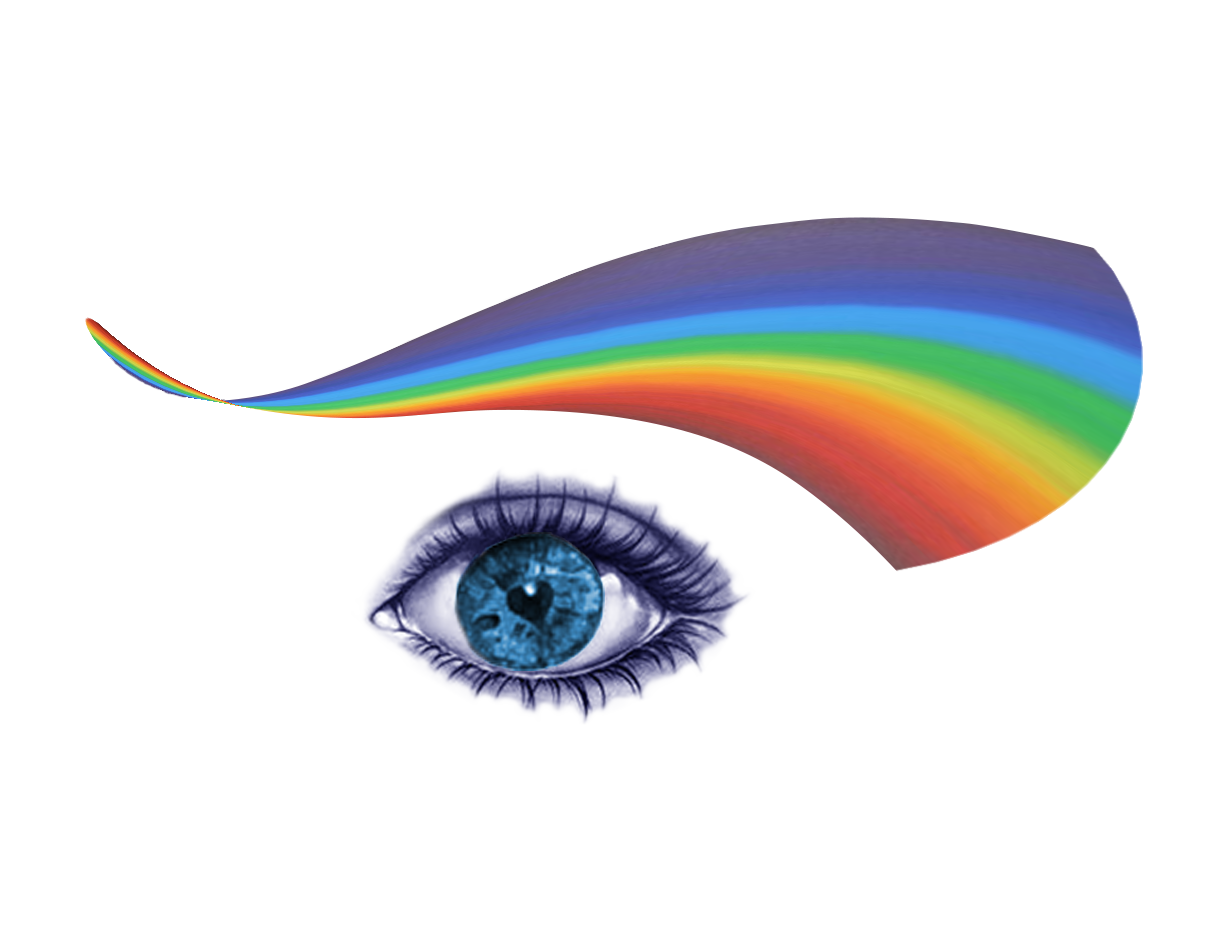 rainbow eye image