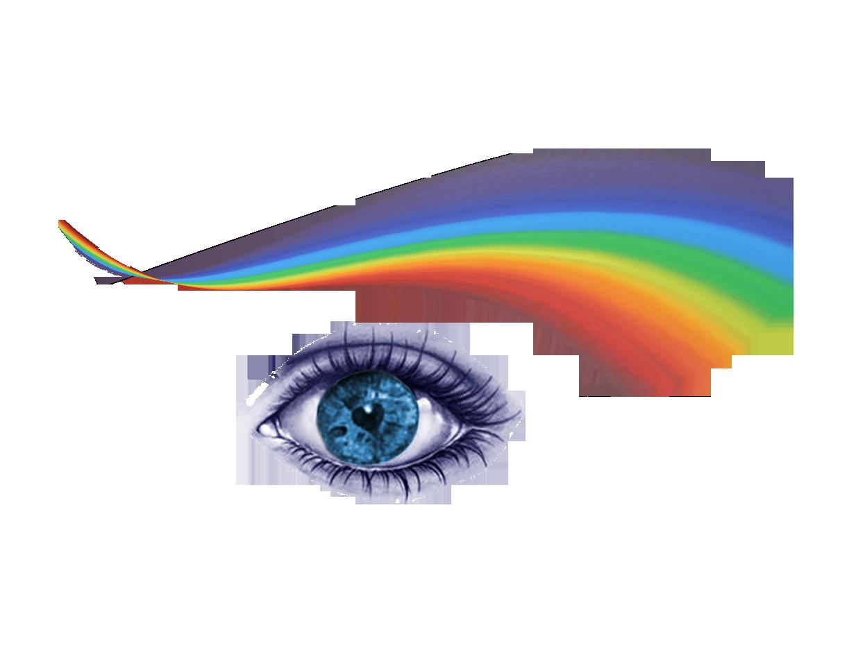 rainbow eye image