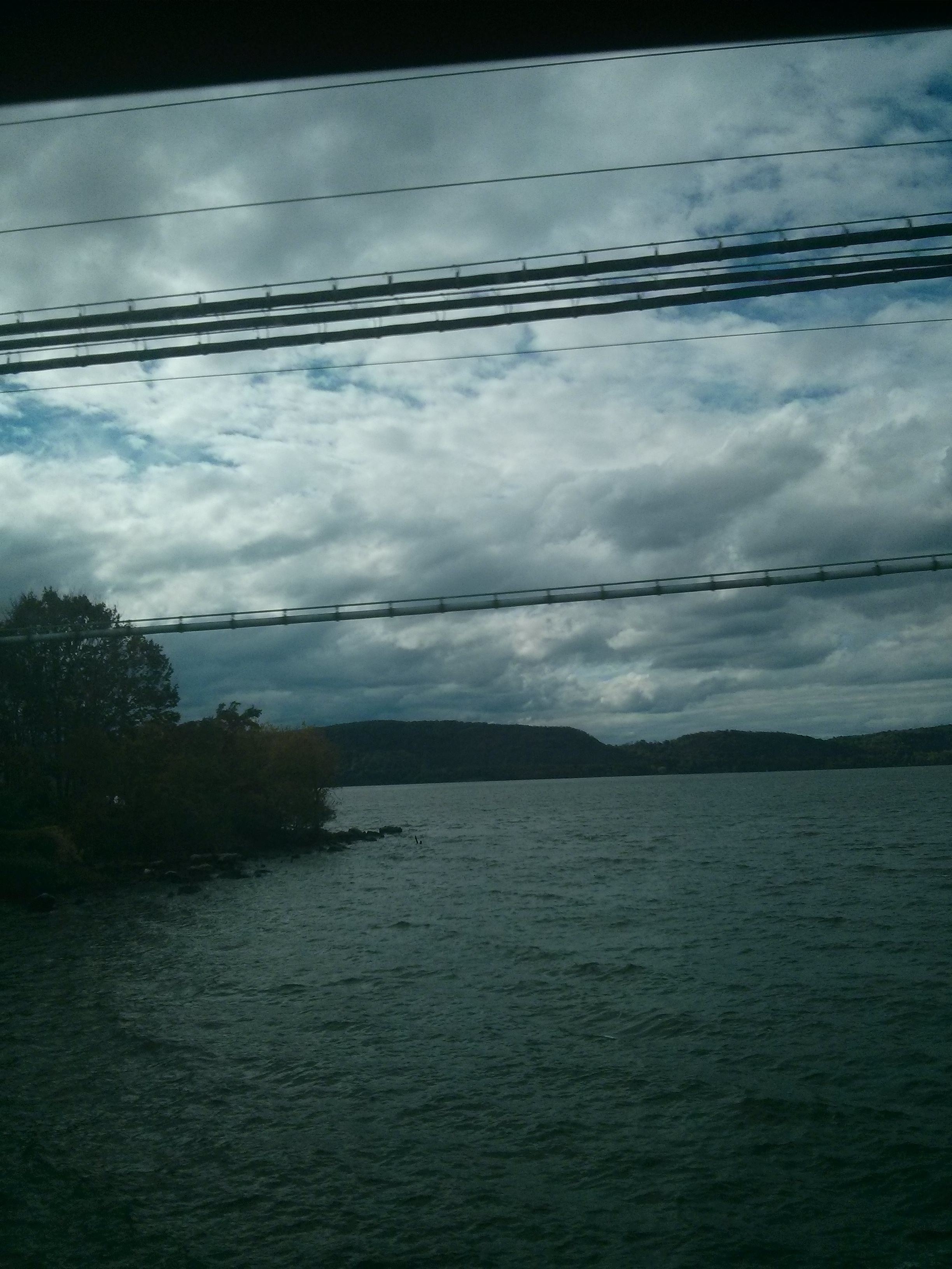 Hudson River seen from a train ride