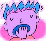 yawn cartoon
